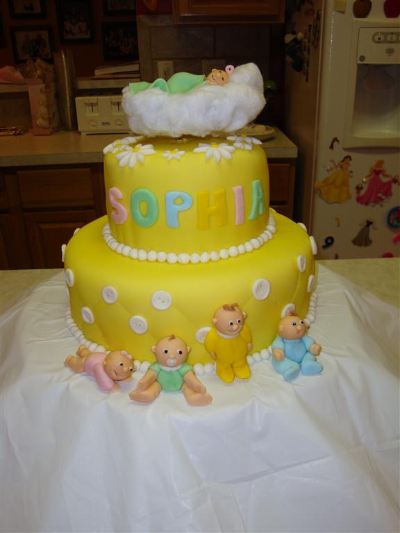 baby shower cake for our friend marissa not a whole lot of movement